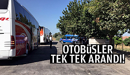 YOLCU OTOBÜSÜNÜ DURDURDULAR
