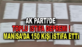 AK PARTİ'DE TOPLU İSTİFA